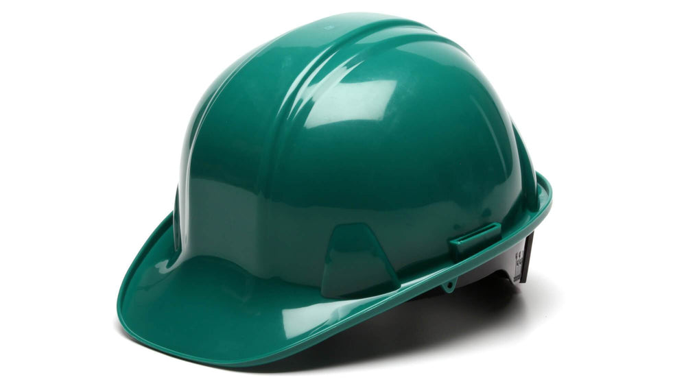 Green SL Standard Hard Hat 4 Point