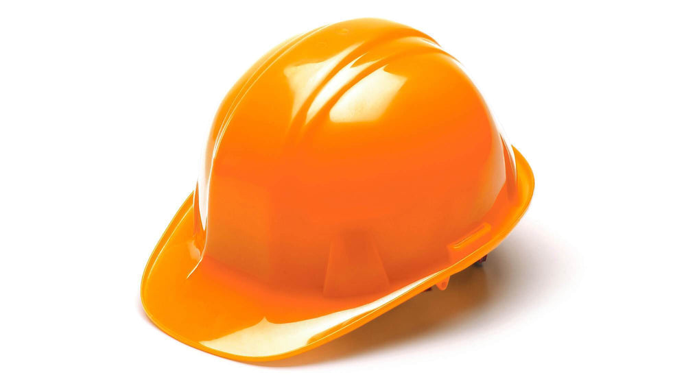 Hi Vis Orange SL Standard Hard Hat 4 Point