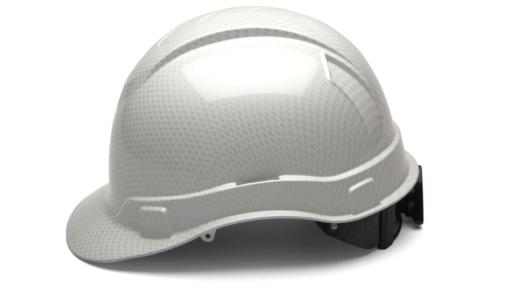Shiny White Graphite Ridgeline Standard Hard Hat
