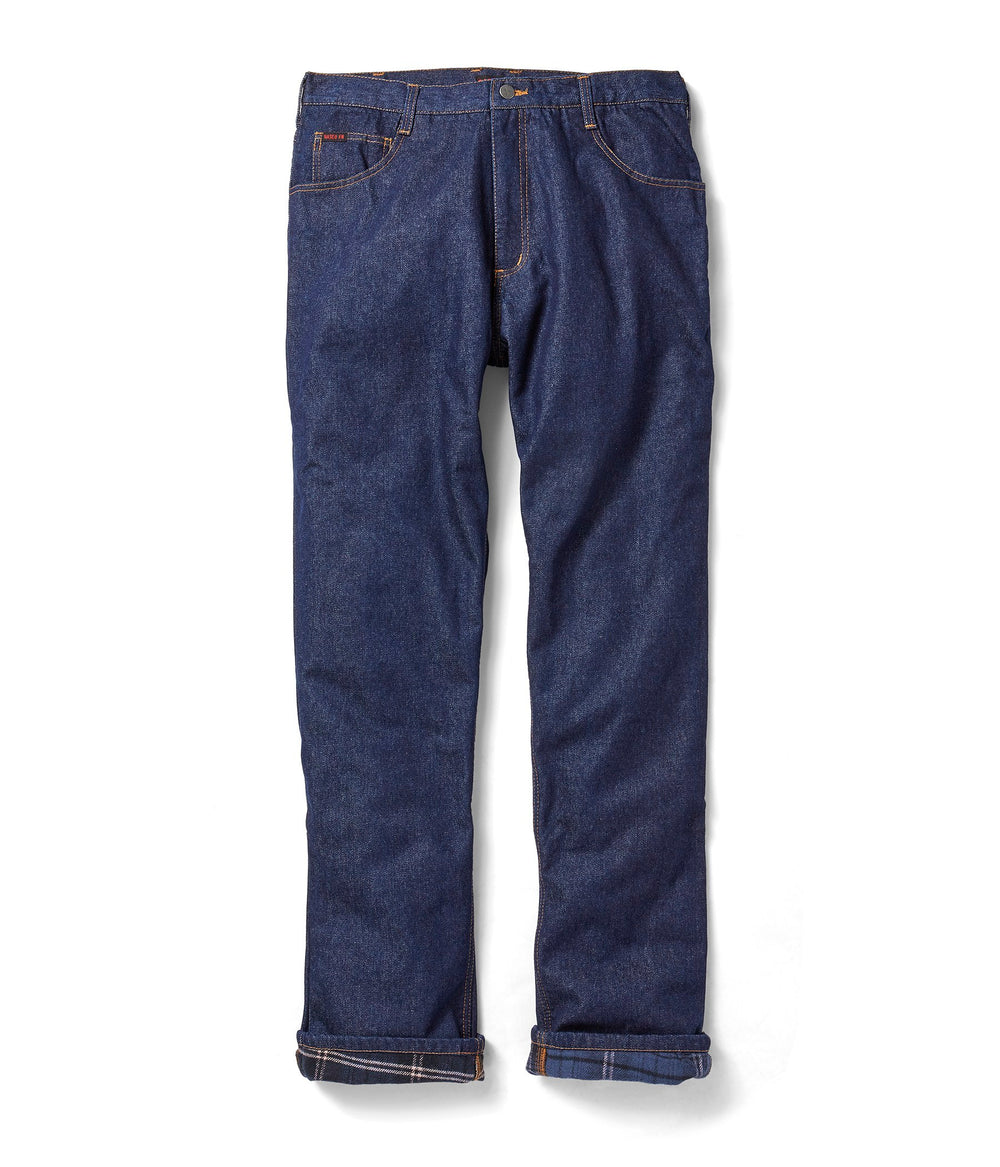 Flame Resistant Quilted Insulated Blue Denim Jeans - JFRQ2000