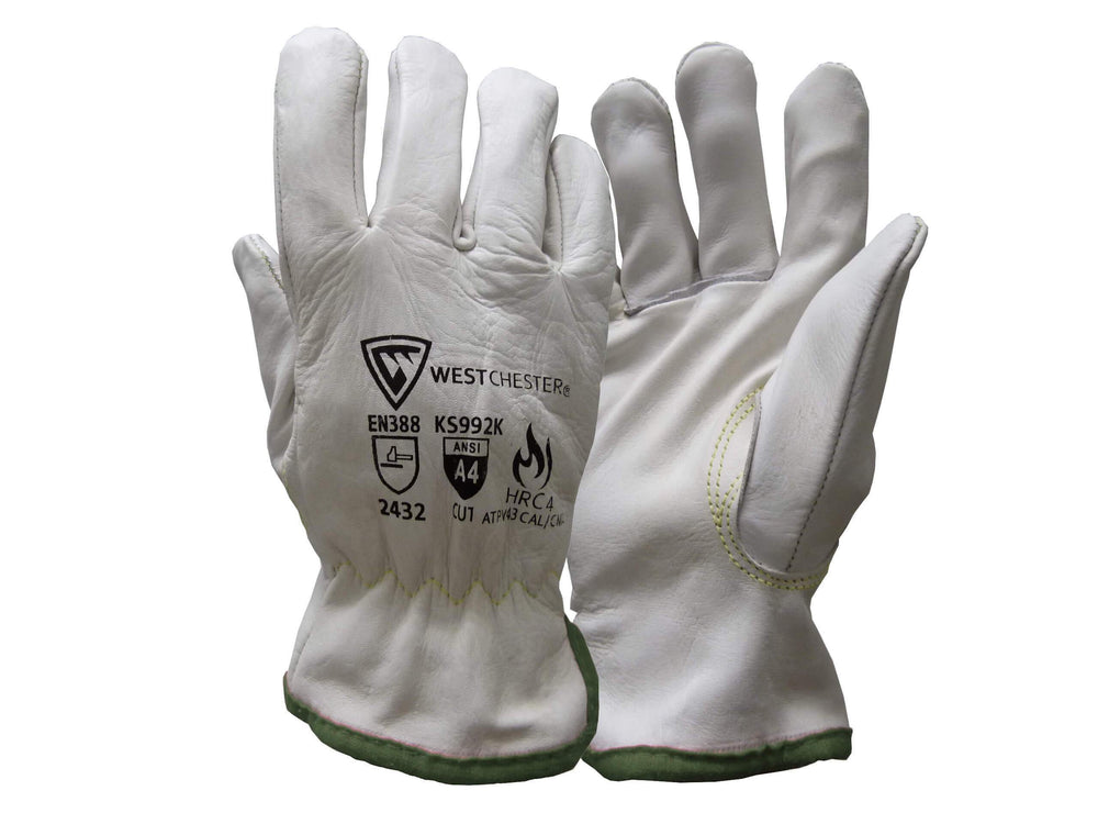 Leather Cut Resistant Driver Glove With Arc Flash Rating