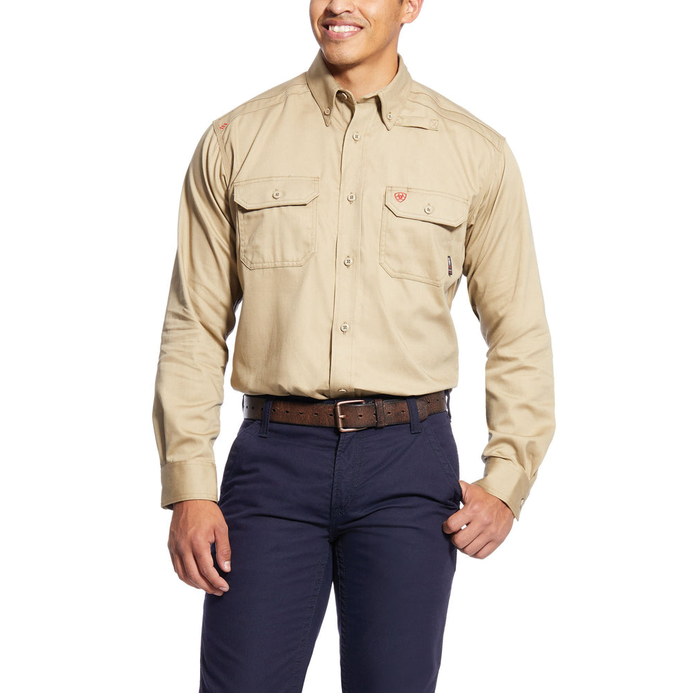 Ariat Men's Flame Resistant Khaki Work Shirt 10012251
