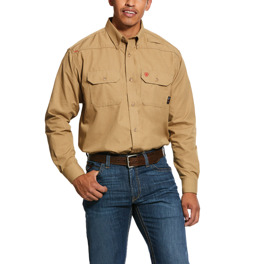 Ariat FR Men's Khaki Feather light Work Shirt 10031015