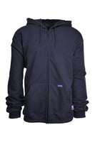 Lapco FR Men's 12oz Zip Up Navy Hoodie SWHFR14ZNY