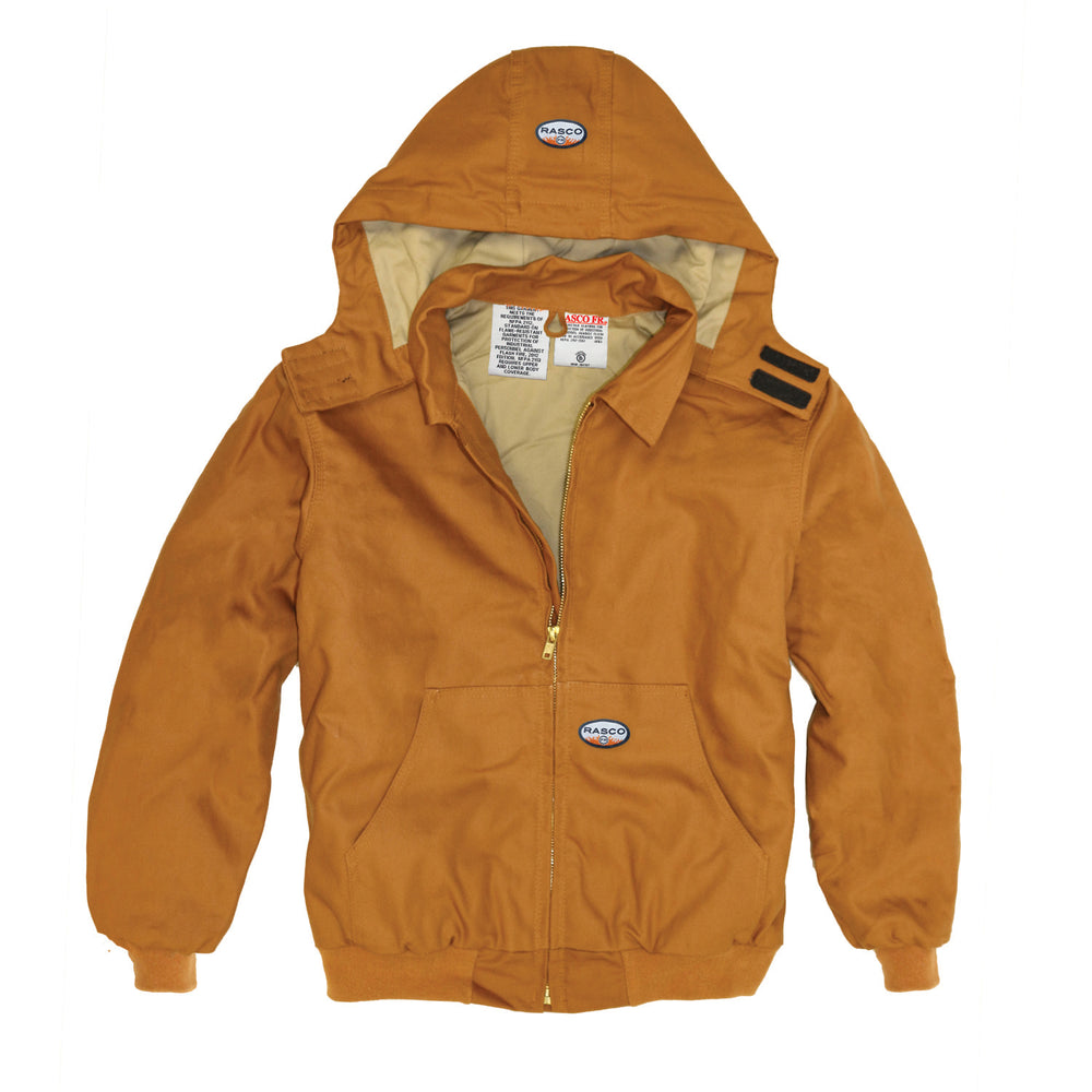 Flame Resistant Hooded Brown Duck Mod Acrylic Insulation Coat BJFQ2206