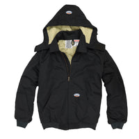 Flame Resistant Hooded Black Duck Mod Acrylic Insulation Coat BKFQ2211