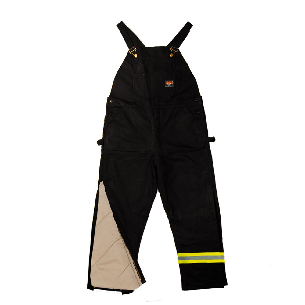 Flame Resistant Black Duck Insulated Bib Overalls w/Reflective tape - BLHB2427-S