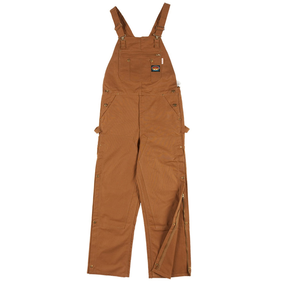 Flame Resistant Brown Duck Bib Overalls - BOB1217