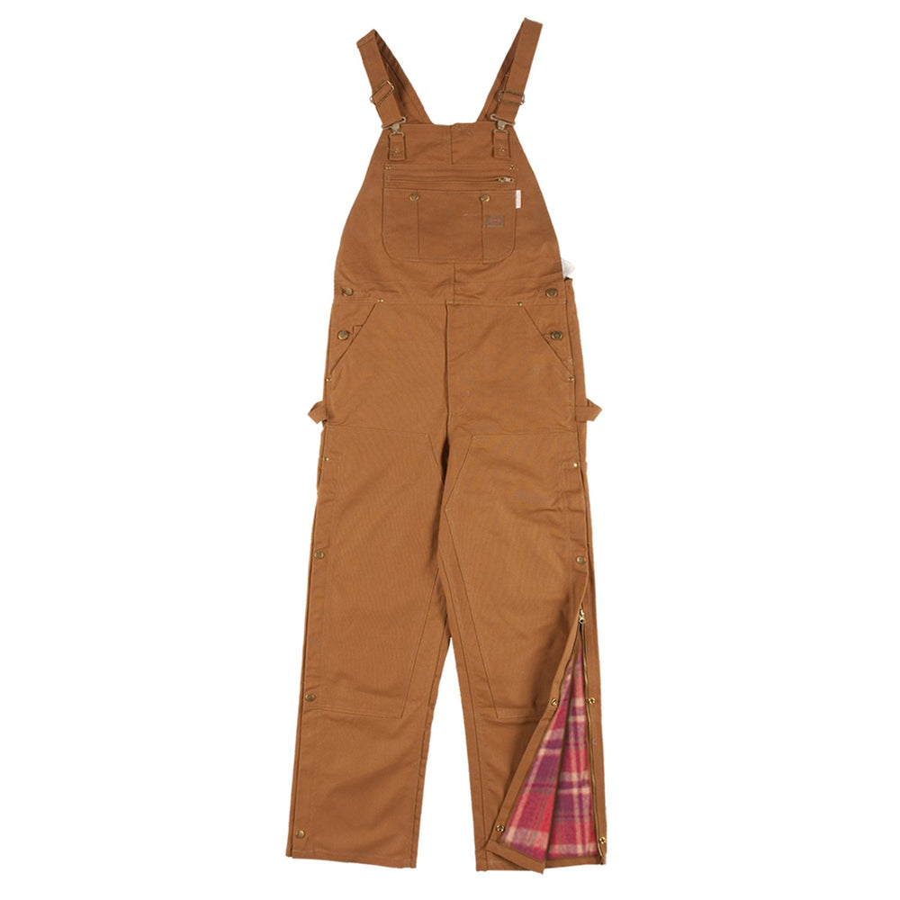 Flame Resistant Brown Duck Insulated Bib Overalls - BOBI4000