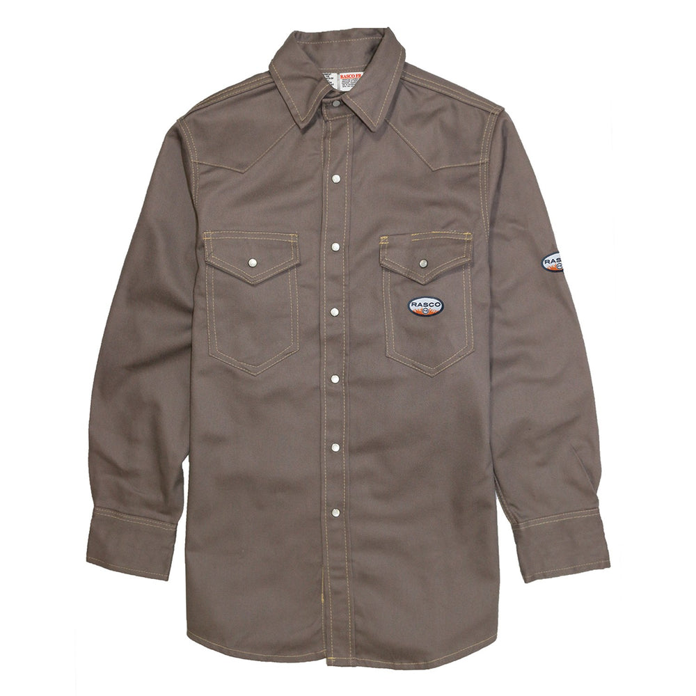 Rasco FR Men's Gray Heavy Weight Work Shirt FR1004GY
