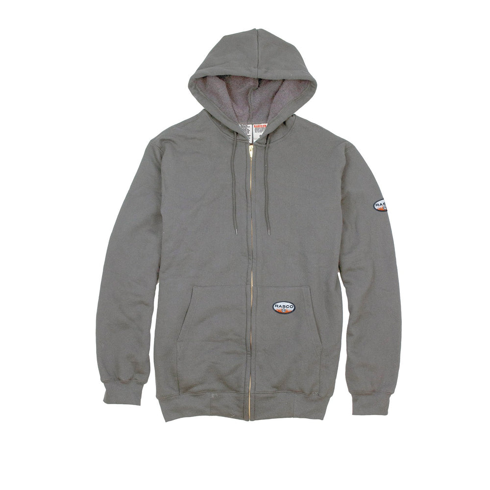 Rasco FR FR2002GY Gray Hooded Zip up Sweatshirt