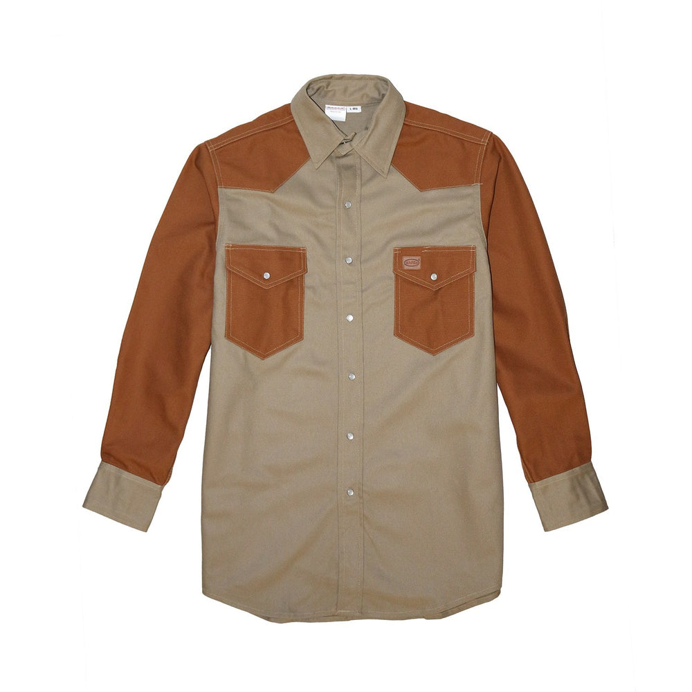Khaki - Brown Duck Non FR Work Shirt - KB1450