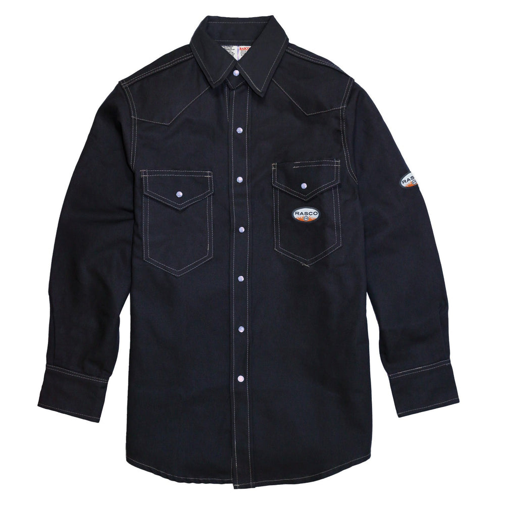 Flame Resistant Navy Twill Heavy Weight Work Shirt NFR1015