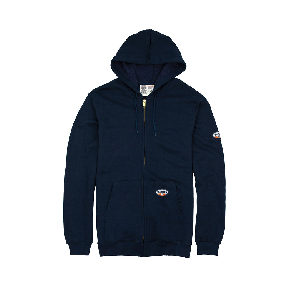 Rasco FR FR2002NV Navy Zip Up Hooded Sweatshirt