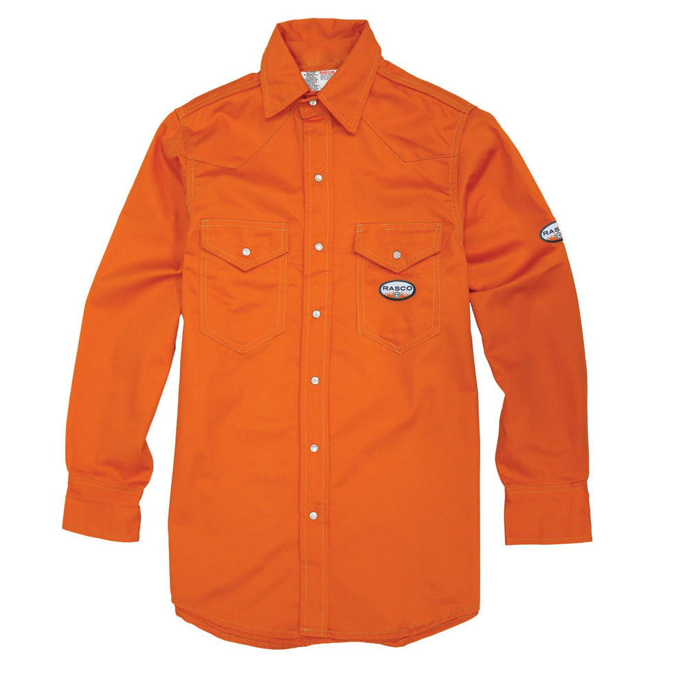 Flame Resistant Orange Light Weight Work Shirt OFR752
