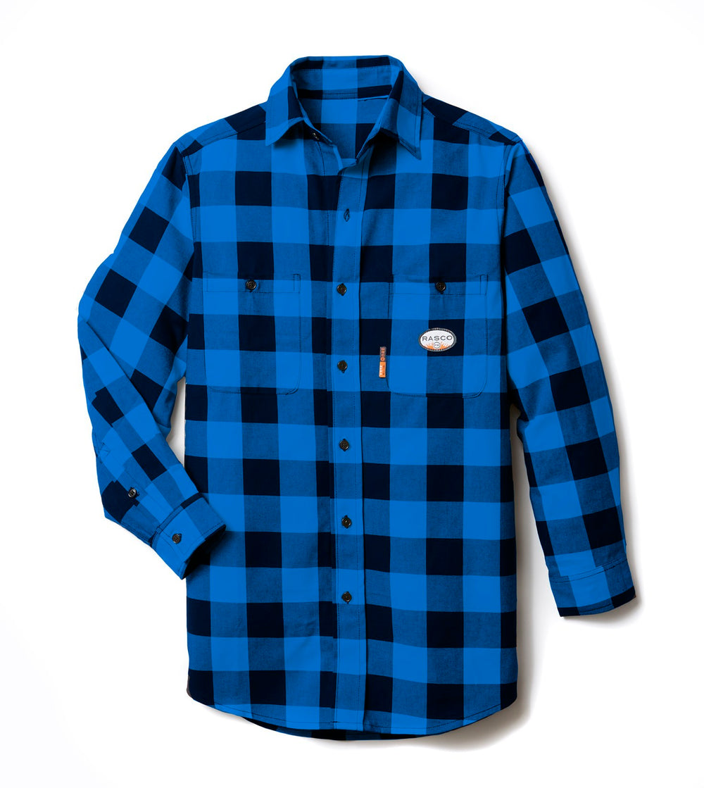 Rasco FR Black & Blue Buffalo Plaid work shirt FR0824BK/BL