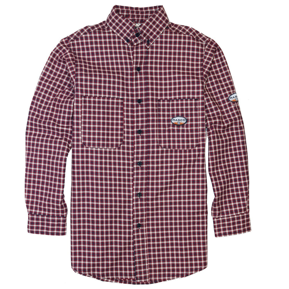 Rasco Fr Men's Red Plaid Work Shirt FR0824RD