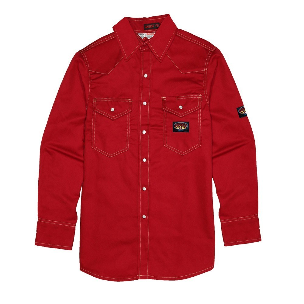 Flame Resistant Light Weight Red Work Shirt RR756