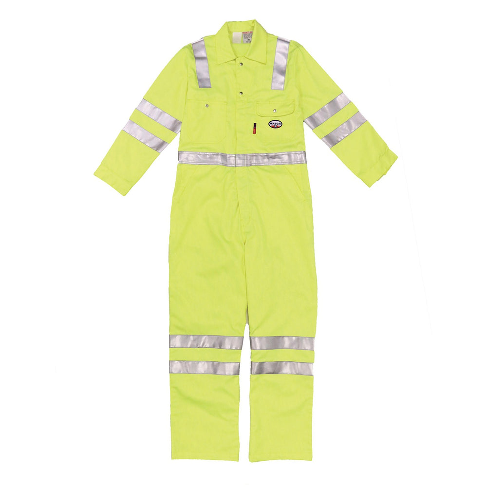 Flame Resistant Hi-Vis Coveralls W/Reflective Striping-HYCR756-S