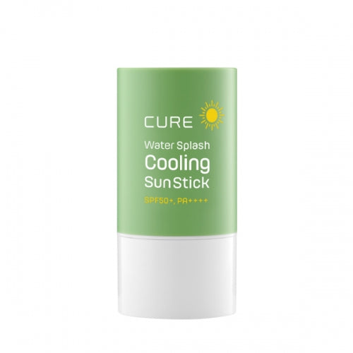 single Kim Jeong Moon Aloe Cure Water Splash Cooling Sun Stick 23g SPF50+ PA++++ with green background