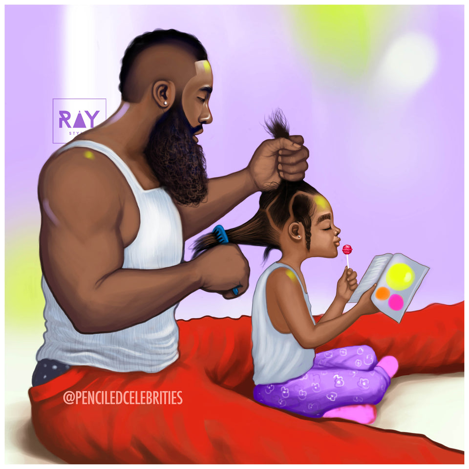 FATHER COMBING HAIR