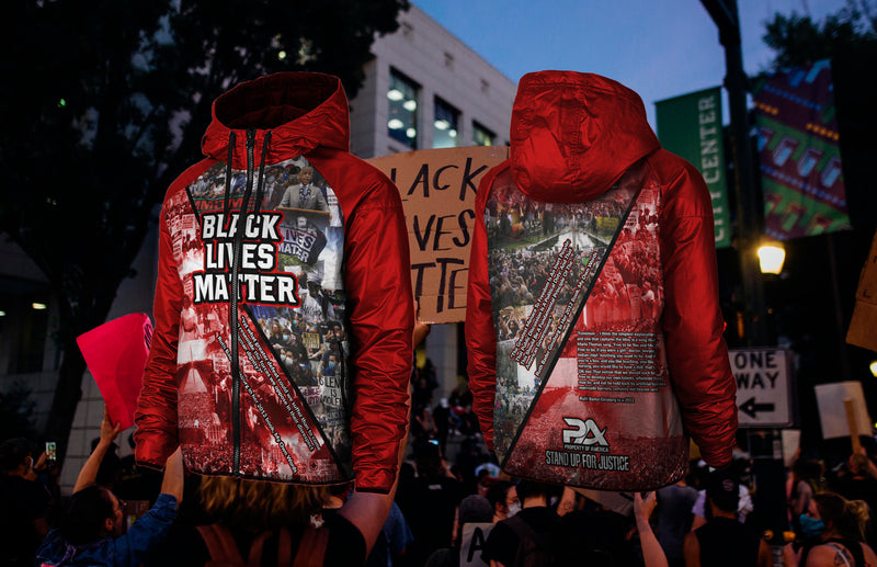 SYNTHETIC-FILL WINDHAWK Red Black Lives Matter Jacket
