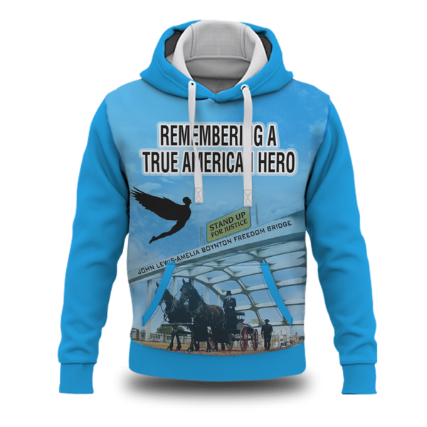 Remembering John Lewis - A True American Hero Sublimated Blue Sweatshirt