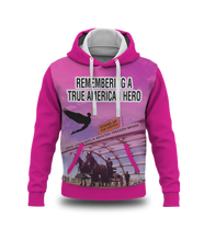 Load image into Gallery viewer, Remembering John Lewis - A True American Hero Sublimated Pink Sweatshirt