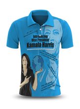 Load image into Gallery viewer, Introducing VP Kamala Polo Blue Shirt