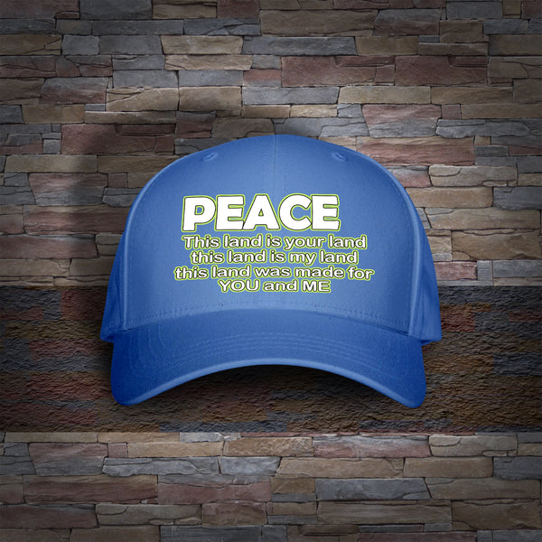 Peace! This Land Is Your Land! Hat