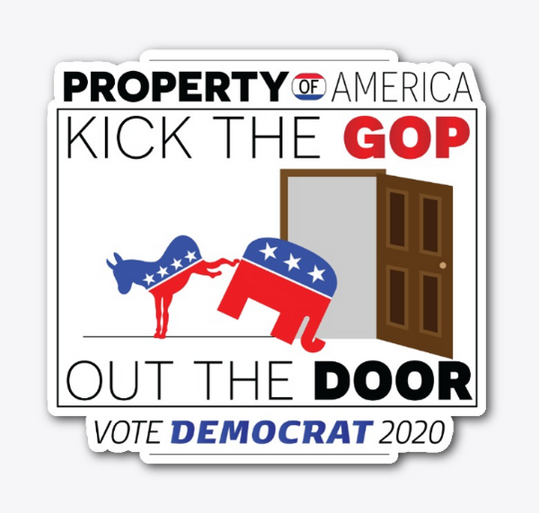 Kick Out The GOP Sticker