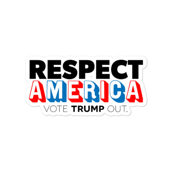 Respect America Die-Cut Sticker