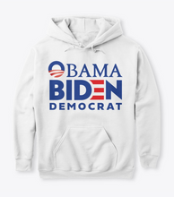 Load image into Gallery viewer, Obama Biden Democrat Sweatshirt Hoodie