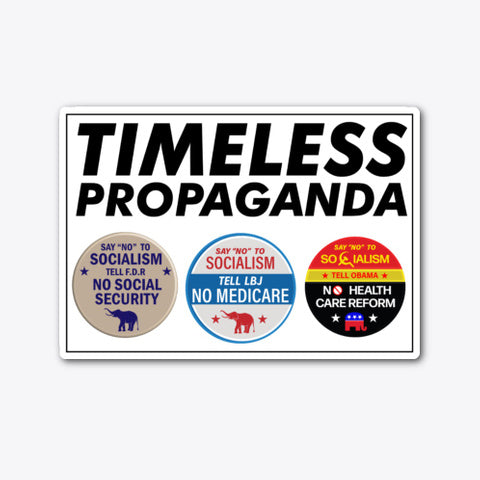 Timeless Propaganda Die-Cut Sticker