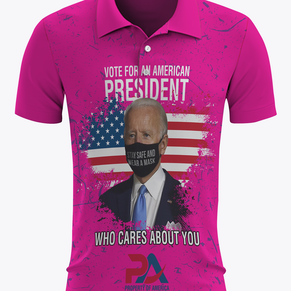 Vote for an American President who cares about you! Pink Polo