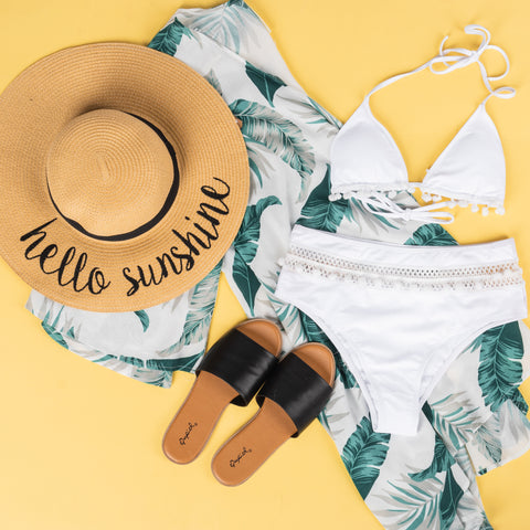 Lush Fashion Lounge Blog: Leisure by Lush 2019 | Hello Sunshine sun hat, women's summer outfits, trendy summer clothes, trendy summer outfits, Oklahoma City boutique