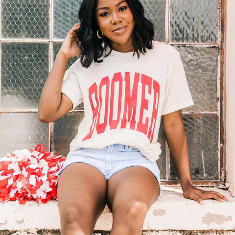 OU Boomer t-shirt from Lush Fashion Lounge women's boutique in Oklahoma City