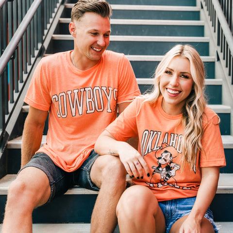 OSU t-shirts for men and women from Lush Fashion Lounge women's boutique in Oklahoma City
