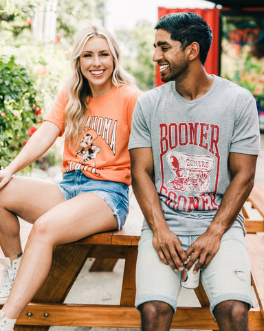 OSU and OU t-shirts from Lush Fashion Lounge women's boutique in Oklahoma City