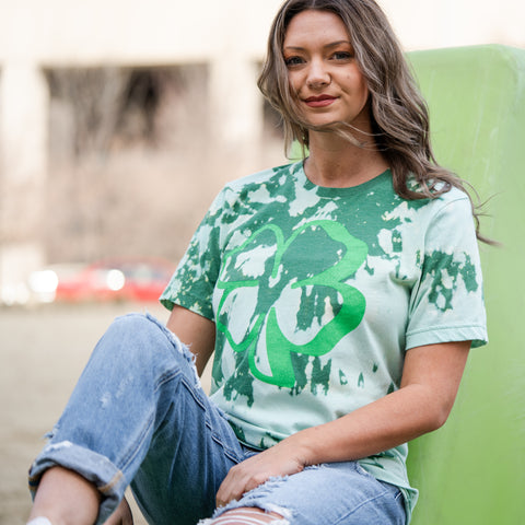 Lush Fashion Lounge women's boutique, green tie dye t-shirt, St Patrick's Day tie dye t-shirt, Oklahoma boutique, OKC clothing store