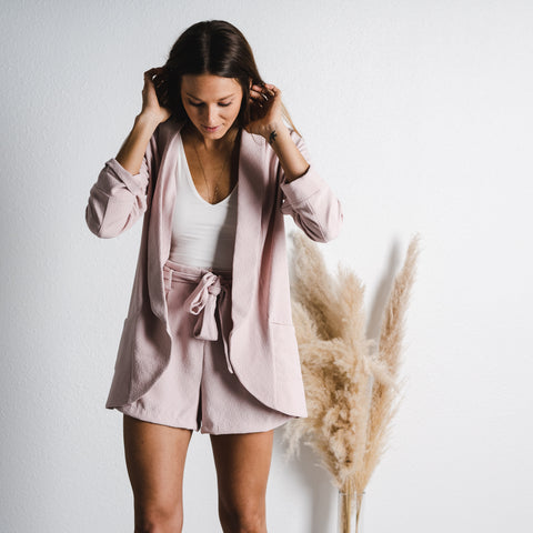 Cute blazer and shorts set from Lush Fashion Lounge women's boutique in Oklahoma City