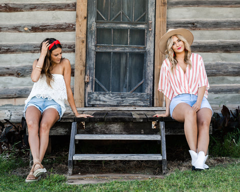 Cute 4th of July outfits from Lush Fashion Lounge women's boutique in Oklahoma
