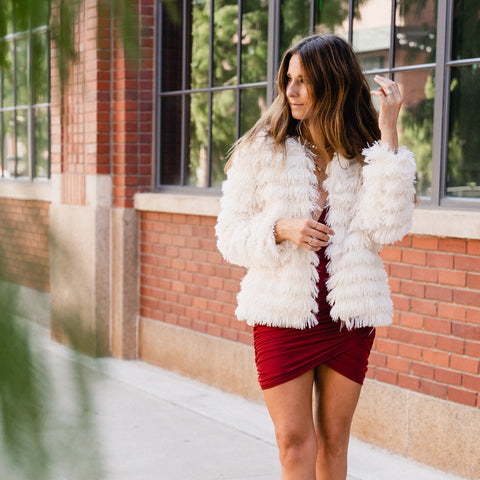 Christmas party outfit from Lush Fashion Lounge women's boutique in Oklahoma City