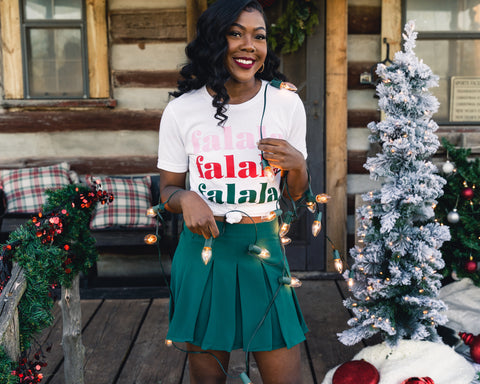 Christmas outfit from Lush Fashion Lounge women's boutique in Oklahoma City