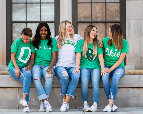 Lush Fashion Lounge Blog: Lucky by Lush 2020 | green Oklahoma graphic tees, Oklahoma graphic t-shirts, Oklahoma St Paddy's Day, women's Oklahoma t-shirts, women's boutique OKC