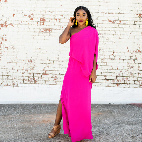 Lush Fashion Lounge, fuchsia maxi dress, Summer maxi dress, Summer dress, vacation maxi dress, Oklahoma boutique, OKC clothing store