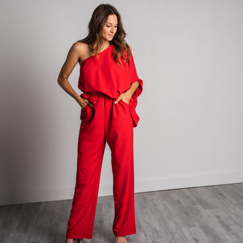 Lush Fashion Lounge blog, trendy Valentine's outfits, cute pantsuit, cute red jumper, trendy Valentine's jumper,