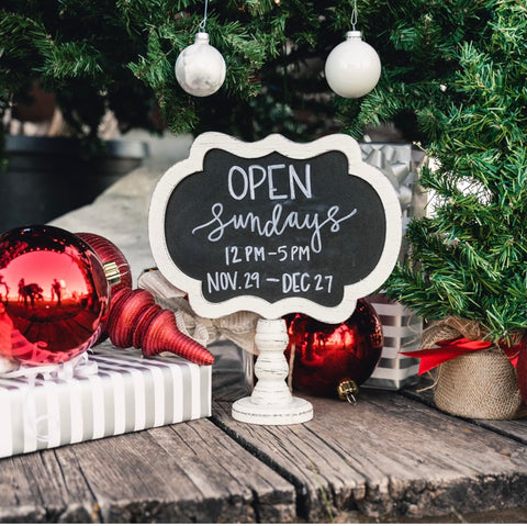 Lush Fashion Lounge women's boutique is open Sundays for the Holidays in Oklahoma