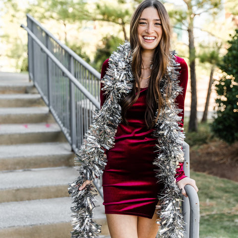 Velvet Holiday dress from Lush Fashion Lounge women's boutique in Oklahoma city