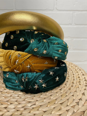 Lush Fashion Lounge , cute headbands, gold headband, green headband, Oklahoma boutique, OKC clothing store,